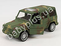 Машинка военная, инер-я, 19,5см, открыв.двери, 2 цвета, в кульке