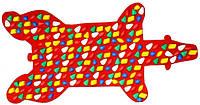Массажный коврик-массажер с цветными камнями «Медведь» 100х50 см