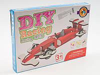 Деревянная игрушка Конструктор, на шурупах, гоночная машина, в коробке