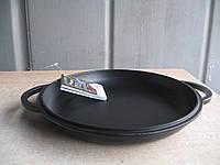 Крышка-сковорода чугунная, эмалированная.  Диаметр 300мм., фото 1