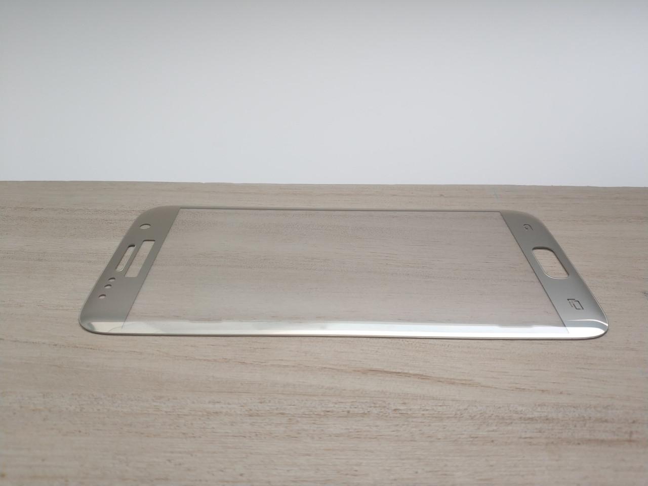 Защитное стекло 3D для SAMSUNG S7 G930 Galaxy S7 золотистое