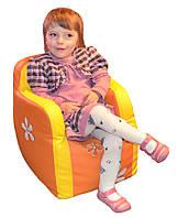 Детское кресло пуфик бескаркасное с вышивкой