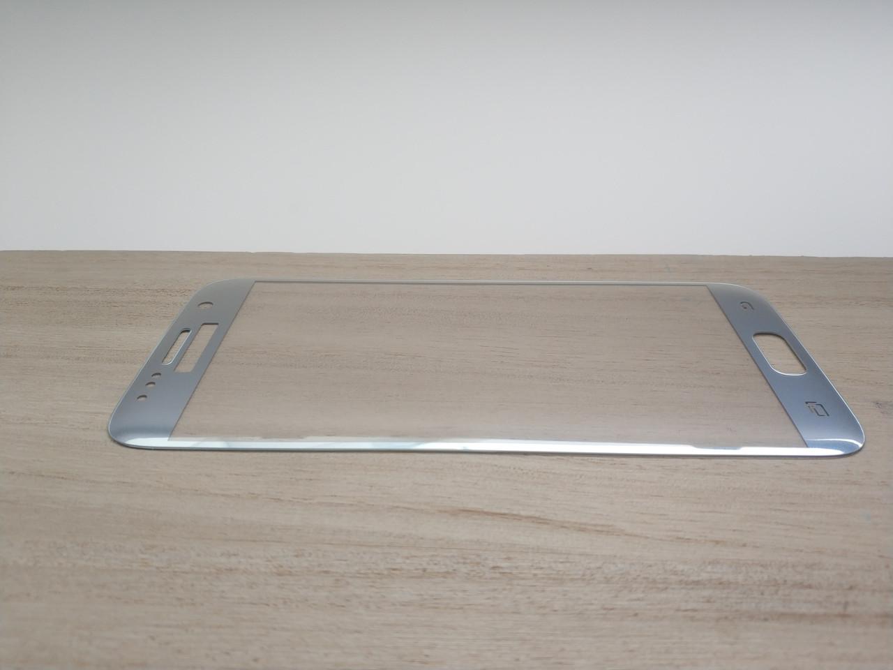 Защитное стекло 3D для SAMSUNG S7 G930 Galaxy S7 серебристое