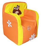 Детское кресло стульчик бескаркасное с вышивкой
