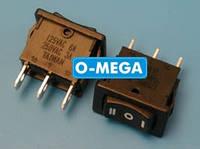 Кнопочный выключатель, Клавиша мини, 3 положения с фиксацией, защёлка 18,8 * 12,9 мм.
