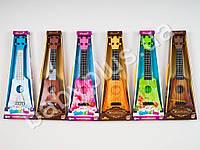 Гитара, 4 струны, медиатор, 6 видов, в кор-ке