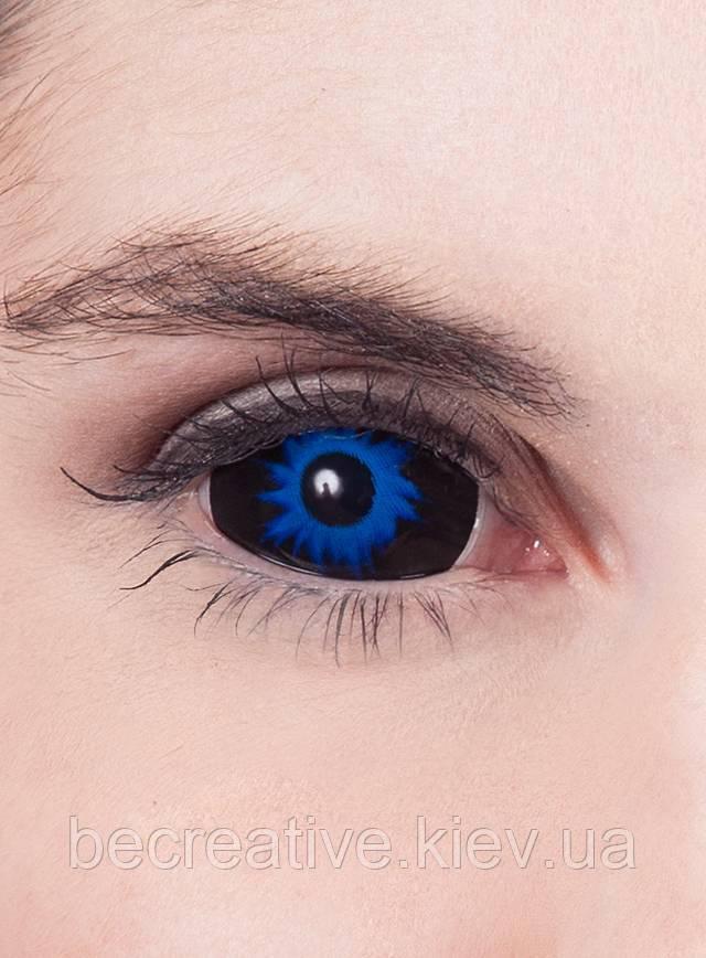 Синие линзы склеры, 22 мм