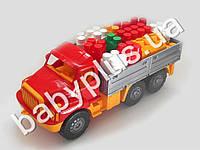 Машина Магирус бортовая №4 с конструктором беби-блок (4 цвета)