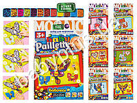 Набор для творчества Картина-мозаика Baby Paillette из пайеток и глиттера в багетной рамке 297X210 мм.