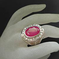 Кольцо серебро 925 пробы рубин 9,15 карат, фото 1