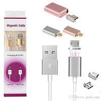 USB кабель на магните 2B1 ART-355 (USB/micro/iphone)