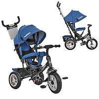 Велосипед M 3113AJ-16 (1шт)три кол.резина (12/10),колясочный,торм.,подшипн,звонок,джинс,черный (мат)