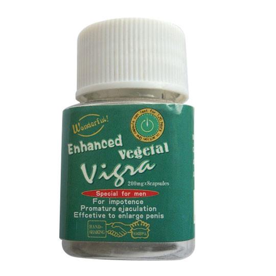 Капсулы для потенции Vigra Vegetal Vigra-Vip Вигра Веджетал Вип препарат для потенции  8 капсул в упаковке, фото 1