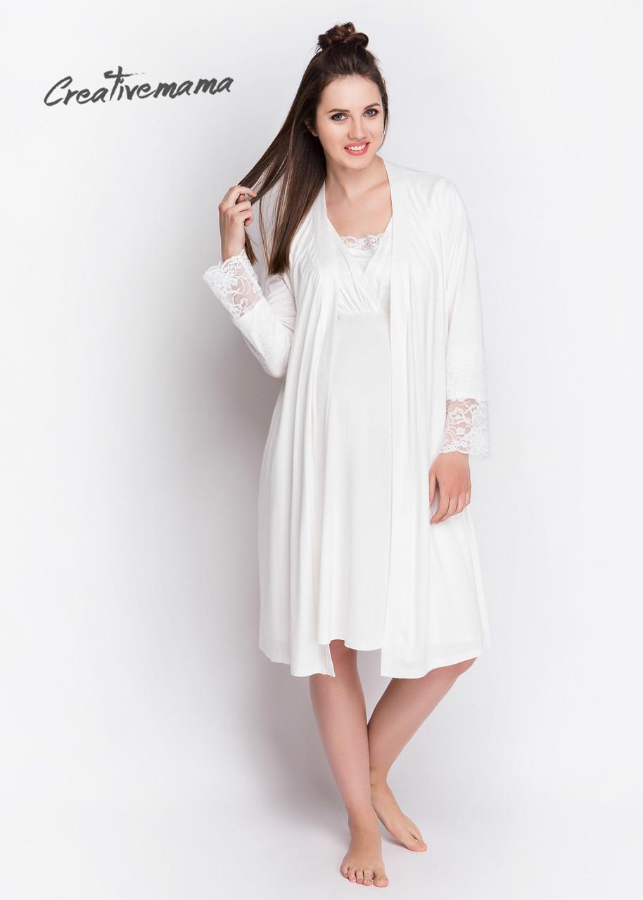 4ff2a705418e22e Комплект домашний в роддом халат+сорочка BLANCO для беременных и кормящих -  АНГЕЛОЧКИ в Харькове
