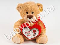 Мягкая игрушка Медведь с сердцем, муз (поет песню про влюбленных)
