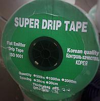 Лента для капельного полива Super Drip Tape  Корея 200мм (1000м) Эмиттерная