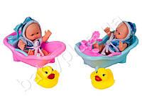 Пупс 12см, ванна, уточка, 2 вида, в кульке