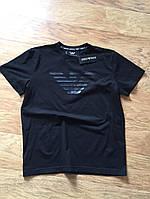 Футболка мужская Giorgio Armani черная (Реплика)