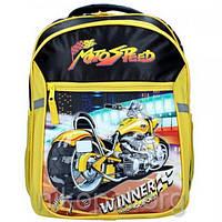 "Ранец-рюкзак Rainbow Jaquard 7-524 ""MotoSpeed"" 38х28х18см., фото 1"
