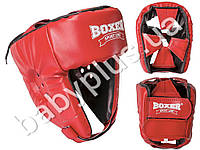 Шлем боксерский Элит L (кожвинил 0.8мм, нап. - пенопоролон) красный
