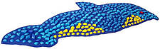 Массажный коврик с цветными камнями «Дельфин» 100х40 см, фото 2