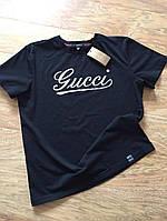 Футболка мужская Gucci черная (Реплика)
