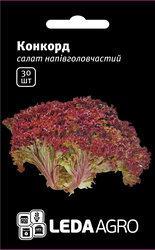 """Семена салата Конкорд, 30 сем., тип лолло россо, ТМ """"ЛедаАгро"""""""