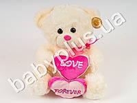 Мягкая игрушка Медведь с двумя сердцами (музыка)
