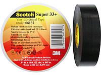 3M Scotch Super 33+ - Изоляционная лента высшего класса 19,0х0,18, рулон 20 м, черный