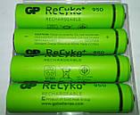 Комплект аккумуляторов (4 шт) GP Green Generation ReCyko+ АAА 1.2V 950mAh Ni-MH, фото 6