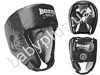 Шлем боксерский Элит M (кожа 1,0-1,2мм, нап. - пенопоролон) черный