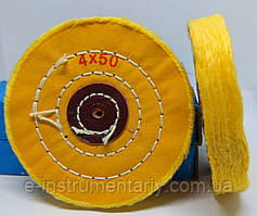 Круг полировальный муслиновый 100х10х6 желтый
