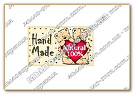 Наклейки для мыла Мишки Hand Made