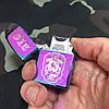Импульсная USB-зажигалка с нанесения гравировки. Хамелеон