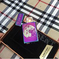 Подарочная USB - зажигалка с гравировкой на заказ. Хамелеон, фото 1