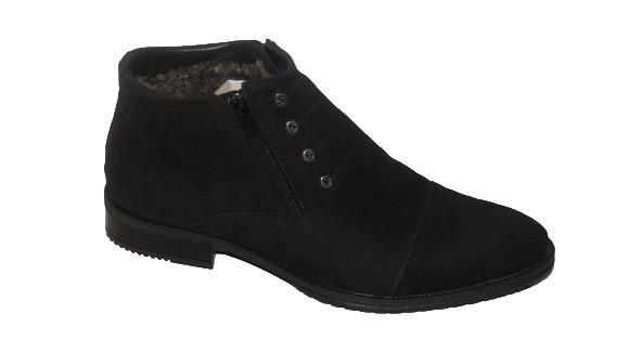 Шкіряні чоловічі чоботи чорні Strado 8607
