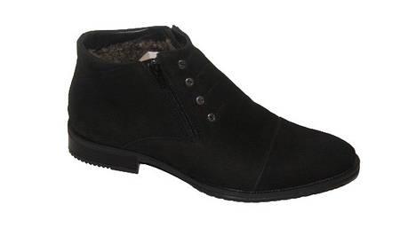 Шкіряні чоловічі чоботи чорні Strado 8607, фото 2