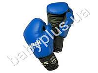 Перчатки боксерские 10oz (кожвинил 0,6мм, нап. -пенопоролон) синие