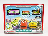 Железная дорога Чаггингтон, локомотив, 2 вагона, муз, свет, дорож.знаки, на бат-ке, в кор-ке