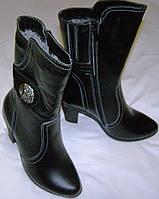 Сапоги женские зимние кожаные 36 размер