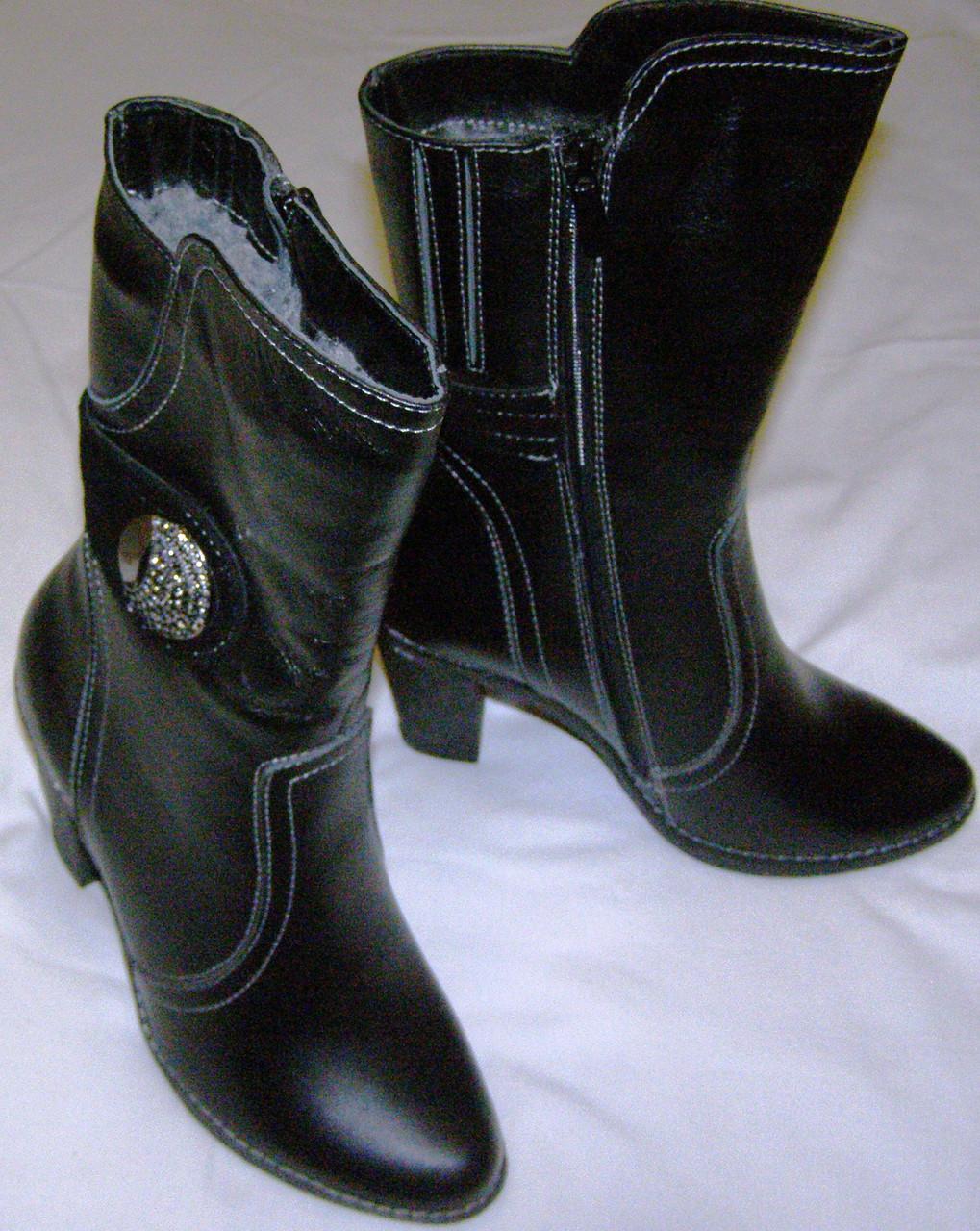 Сапоги женские зимние кожаные 36 размер, цена 955 грн., купить в ... 31e43ee65bf