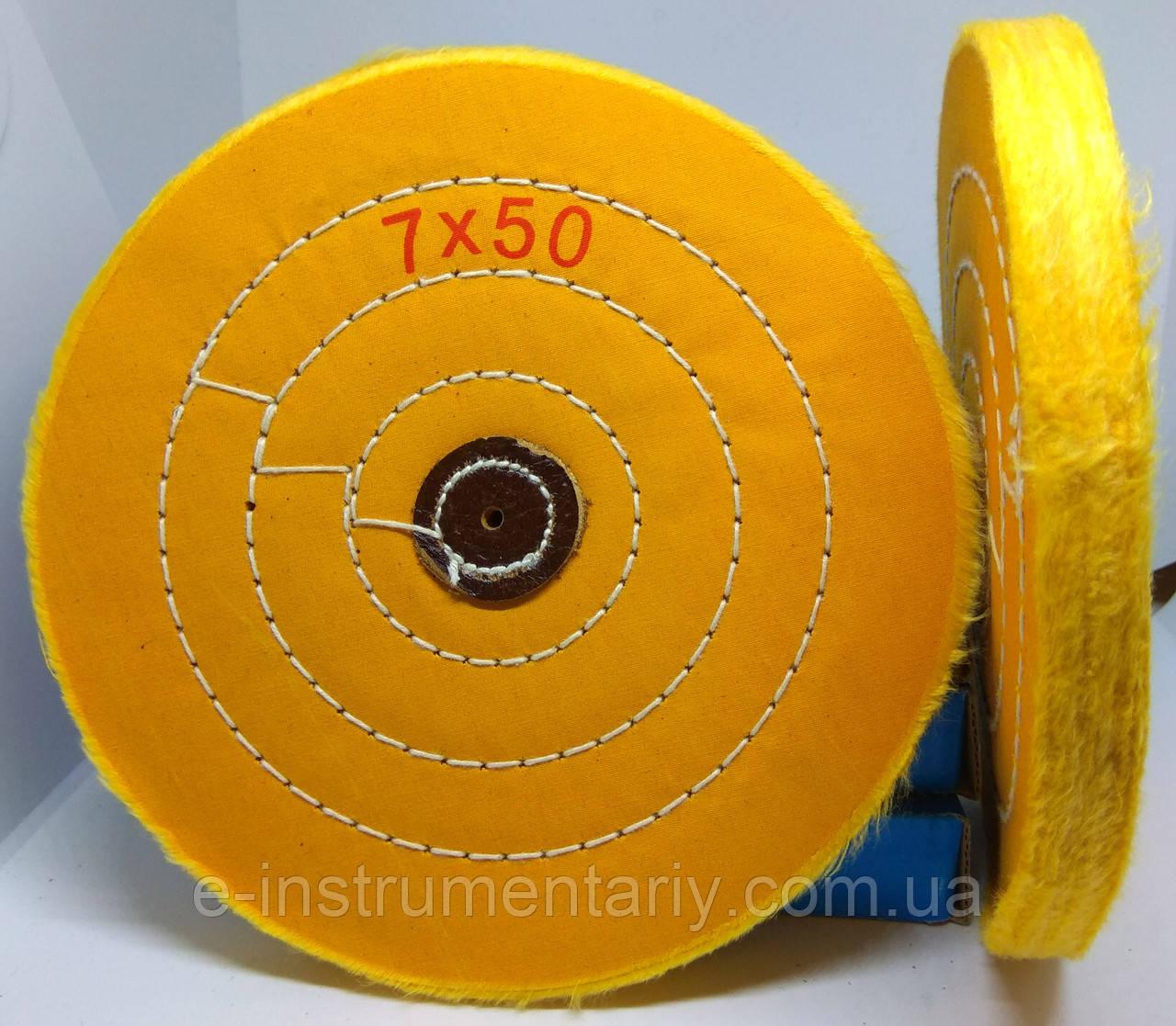 Круг полировальный муслиновый 175х10х6 желтый