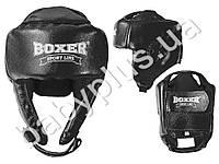 Шлем каратэ M (кожа 0.8-1мм, нап. - пенопоролон) черный