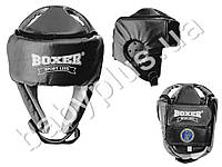 Шлем каратэ Элит M (кожа 1,0-1,2мм, нап. - пенопоролон) черный