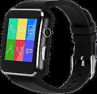 SmartWatch X6, SIM-карта, Виброрежим, Шагомер, Камера, Bluetooth 3.0, MP3/MP4-плеер, Anti-Lost