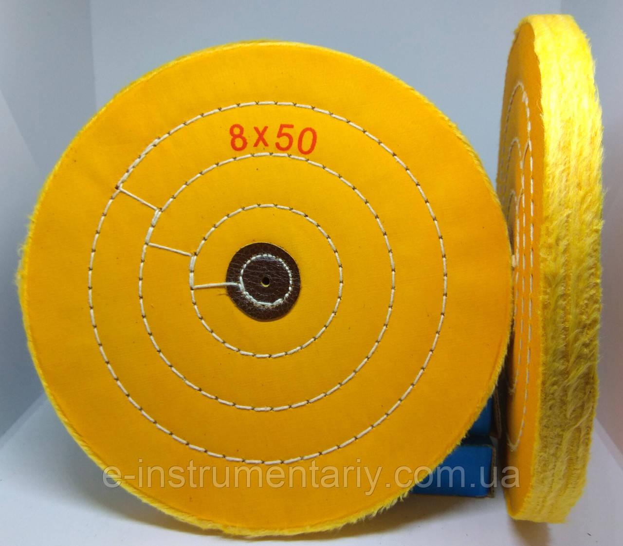 Круг полировальный муслиновый 200х10х6 желтый