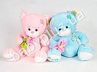 """Мягкая игрушка Медведь с цветком, 2 вида, музыкальный, песня из м/ф """"Маша и медведь"""""""