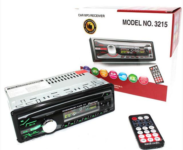 \Автомагнитола Pioneer 1DIN MP3-3215 RGB панель + пульт управления