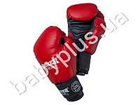 Перчатки боксерские 6oz (кожвинил 0,6мм, нап. -пенопоролон) красные