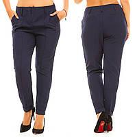 Женские стильные классические прямые брюки со стрелками. Батал, фото 1